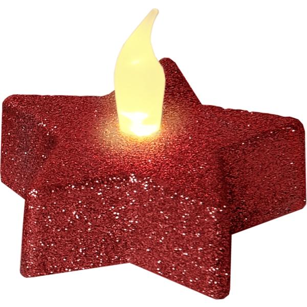LED Värmeljus 2-pack Shine Red