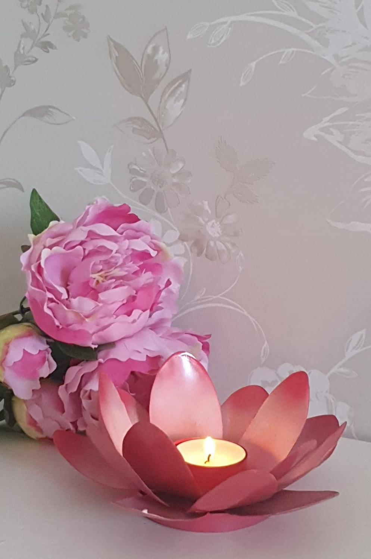 Ljushållare Blomma Rosa