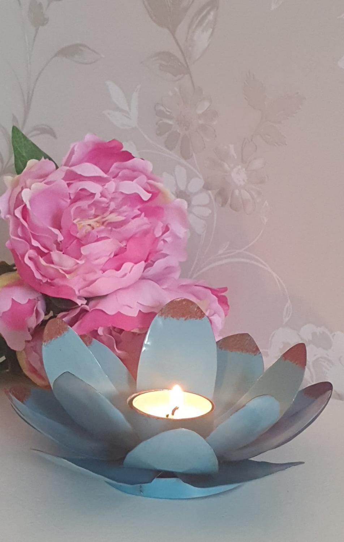 Ljushållare Blomma Turkos