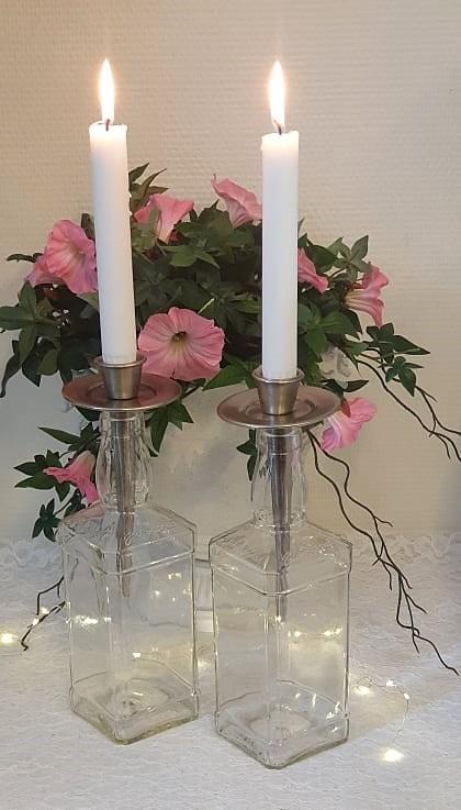 Ljushållare För Flaska Silver