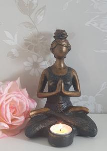 Ljushållare Yogakvinna - Mörkgrön