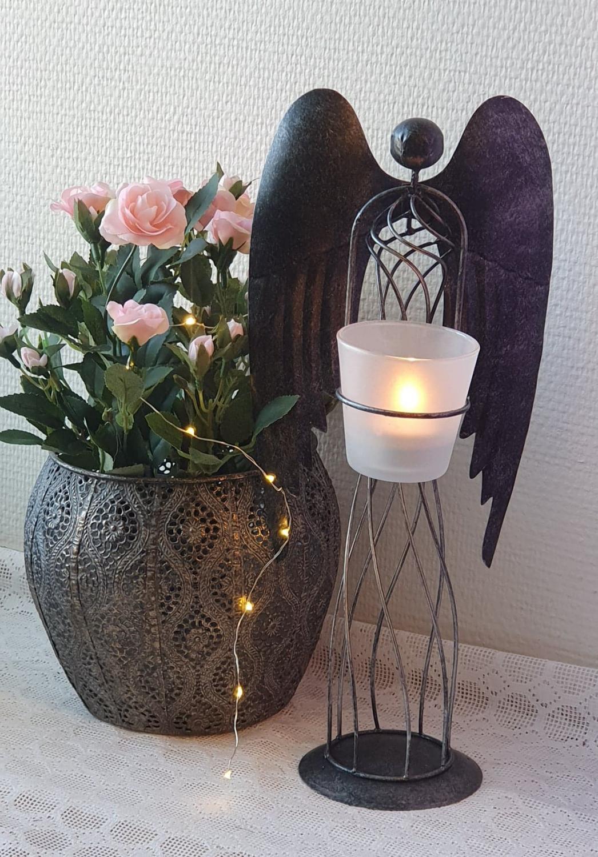 Ljuslykta Ängel Smide