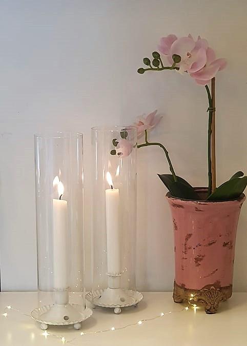 Ljuslykta Cylinder - Vit