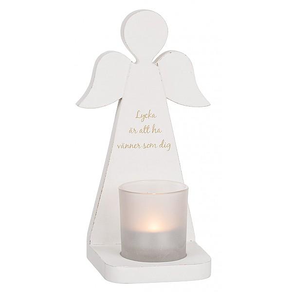 Ljushållare - Ängel- Lycka är att ha vänner som dig