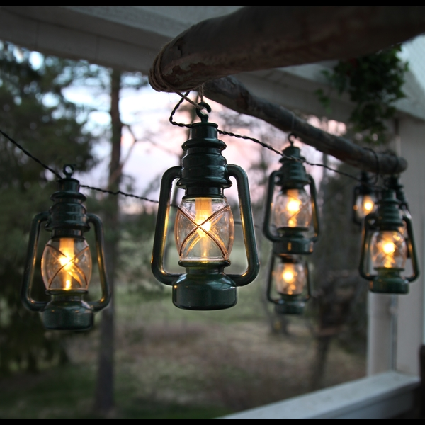 Ljusslinga Lanterna - Vit