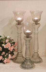 Glas Ljusstake Small 2-Set