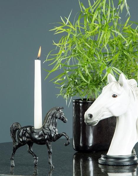 Ljusstake Häst Brun Svart
