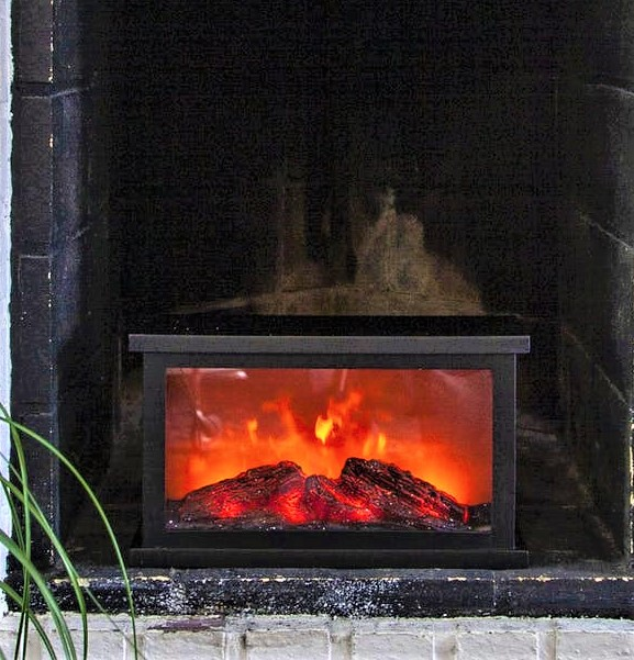 Lykta Fireplace Eldstad Med Timer