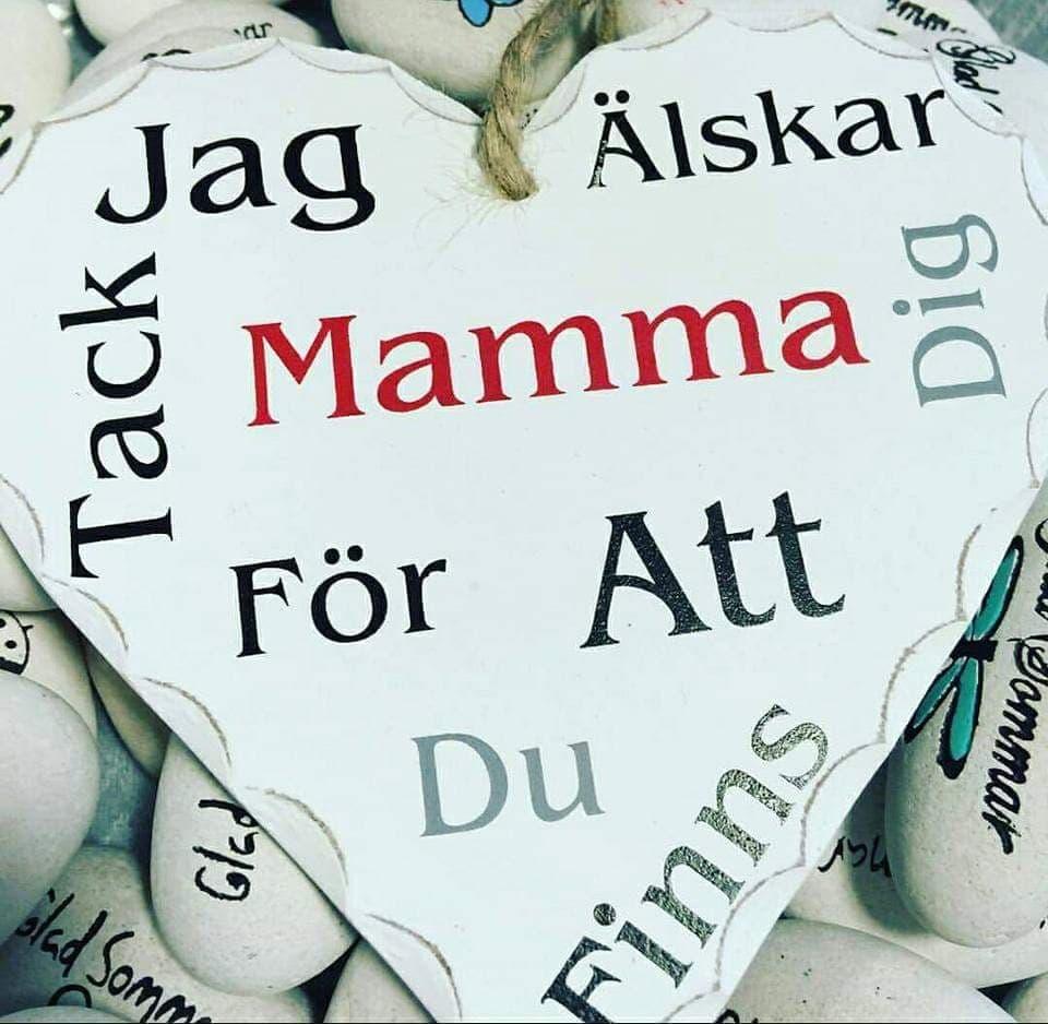 """Hjärta """"Jag Älskar Dig Mamma """""""