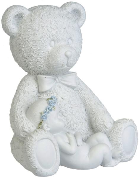 Nallebjörn Med Baby i Knä
