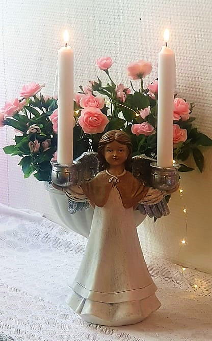 Ängel Med Ljushållare