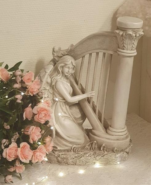 Ängel Som Spelar Harpa