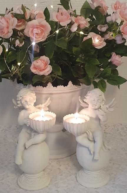 Änglar Med Ljuslykta 2-pack
