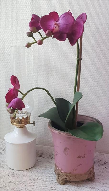 Orkidé Konstgjord Mörklila