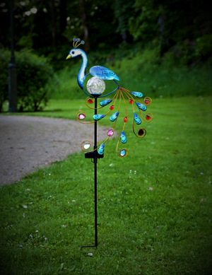 Påfågel Solcell