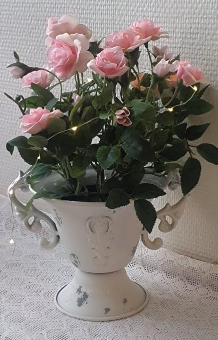 Konstgjord Ros 30 cm Ljusrosa