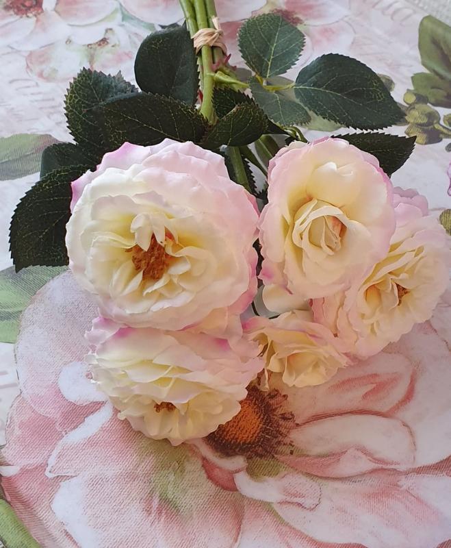 Rosbukett - Rosa - 37 cm