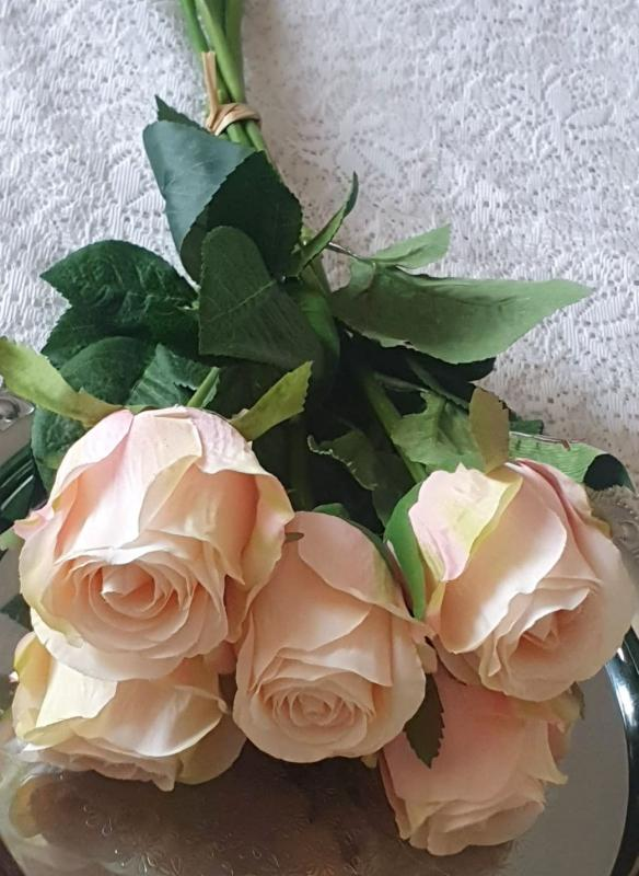 Rosbukett  Rosa - 50 cm