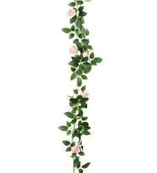 Girlang Av Rosa Rosor - 160cm