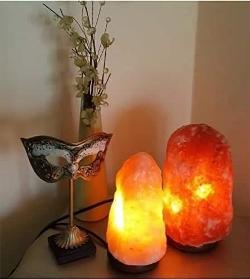 Saltkristall Lampa