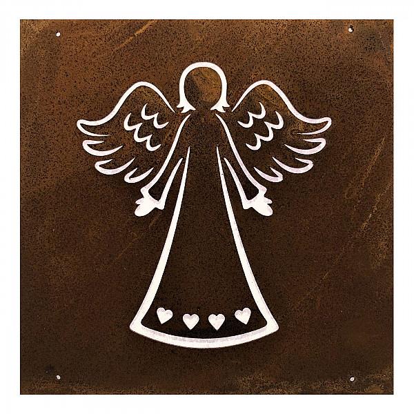 Skylt Ängel Rost