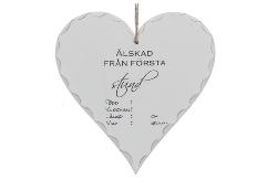 """Hjärta """" Älskad från första stund"""""""