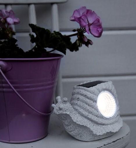 Snigel Solcellslampa LED