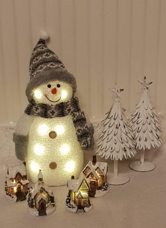 Snögubbe Grå - LED