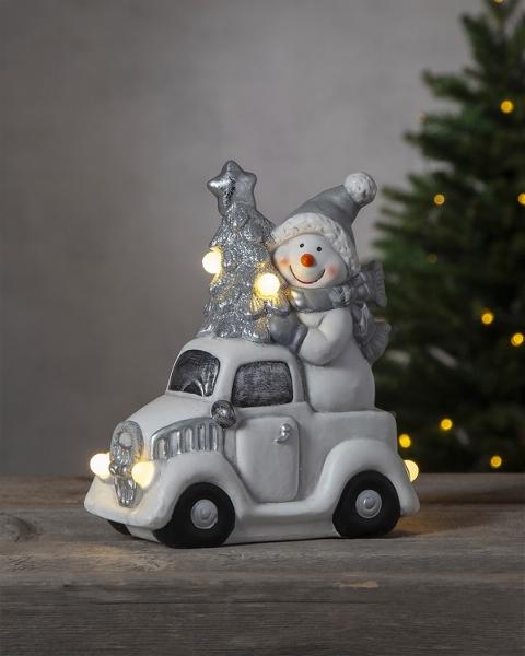 Snögubbe med Bil