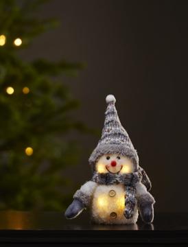Snögubbe LED Vit/Grå