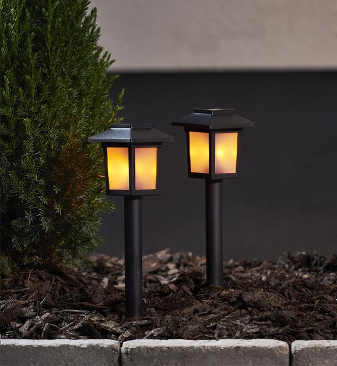Flame Mini Solcellslampa 2-pack