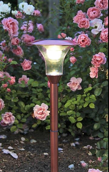 Solcellslampa Koppar 51 cm