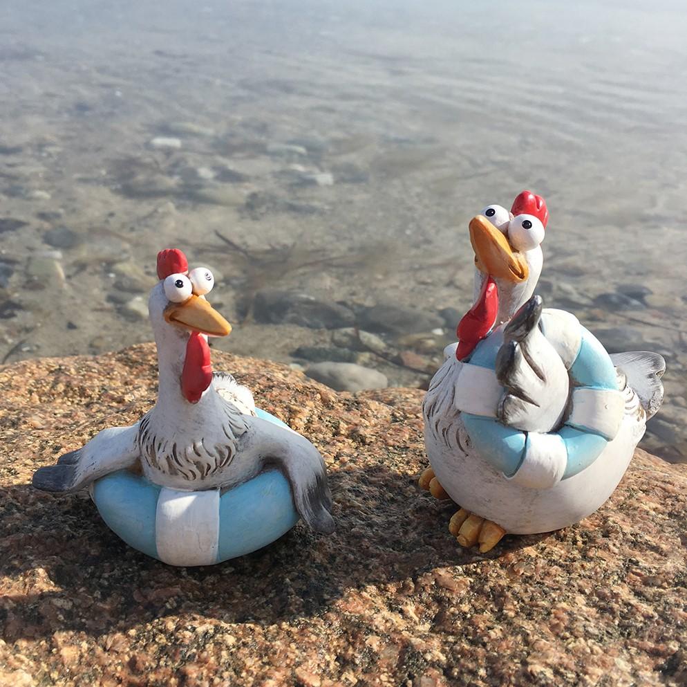 Sommar kycklingar Med Badring 2-pack