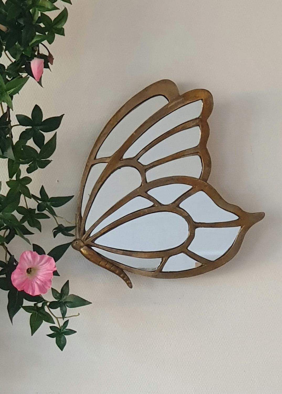Spegel Fjäril Guld