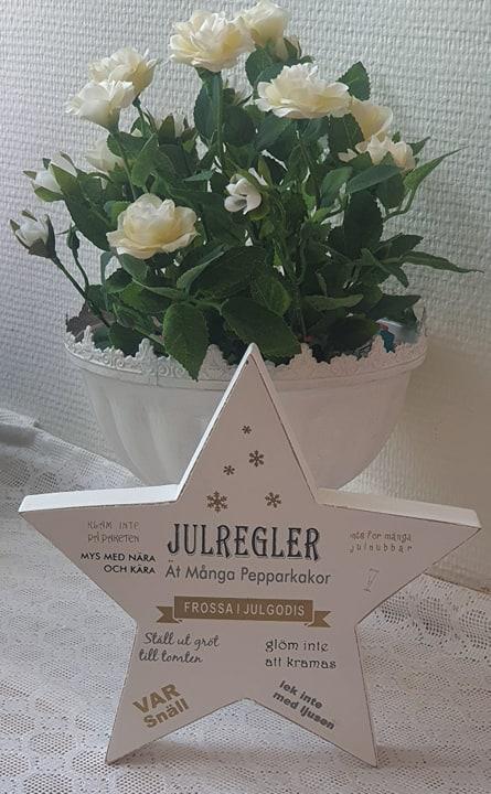 Stående Stjärna Julregler