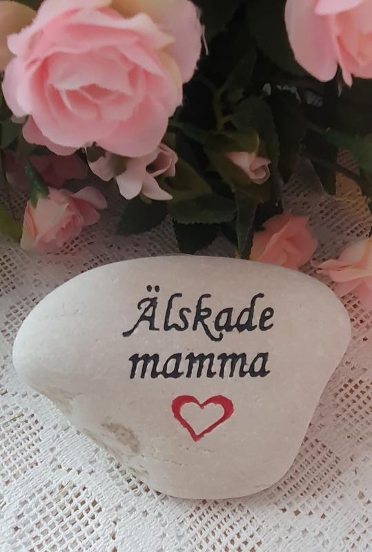 Sten Med Graverade Text - Älskade Mamma