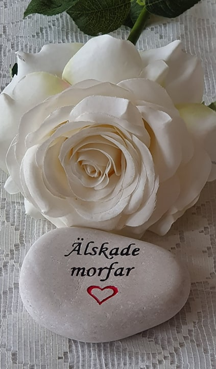 Sten Med Graverade Text - Älskade Morfar