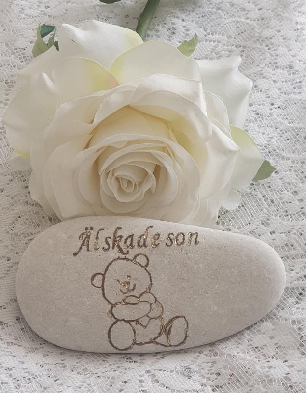 Sten Med Graverade Text - Älskade Son
