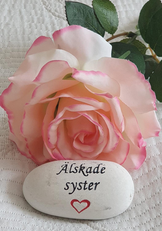 Sten Med Graverade Text - Älskade Syster