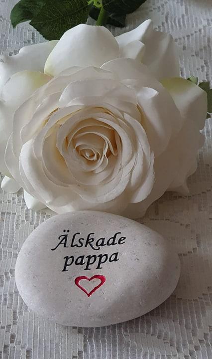 Sten Med Graverade Text - Älskade Pappa