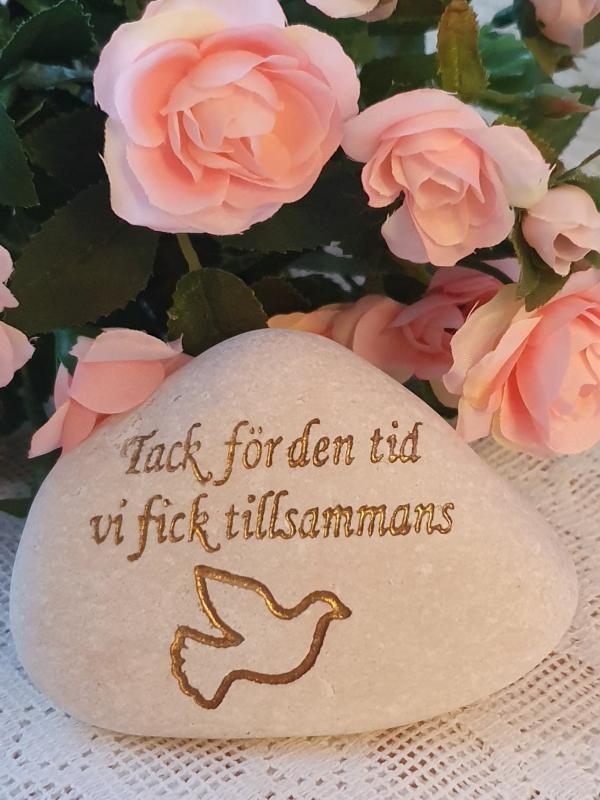 Sten Med Graverade Text - Tack För Den Tid Vi Fick Tillsammans