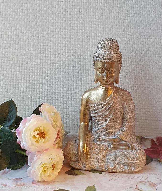 Thai Buddha Guld Och Vit