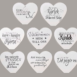 Stående Hjärta Med Text