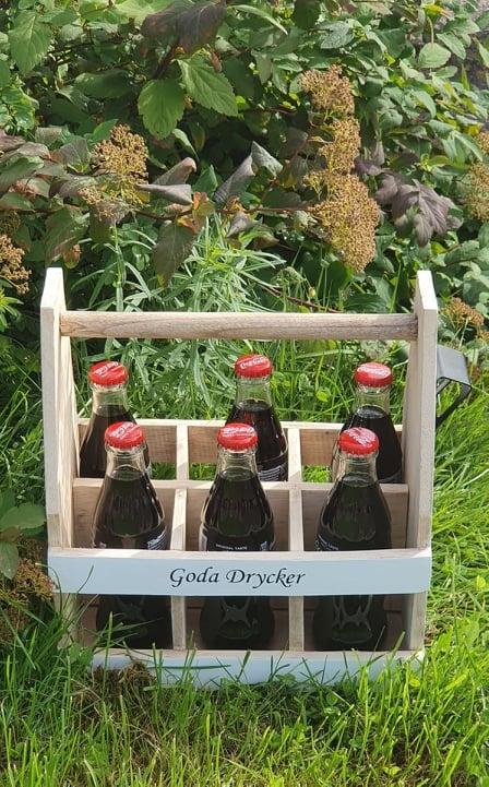 Trälåda Goda Drycker Med Öppnare