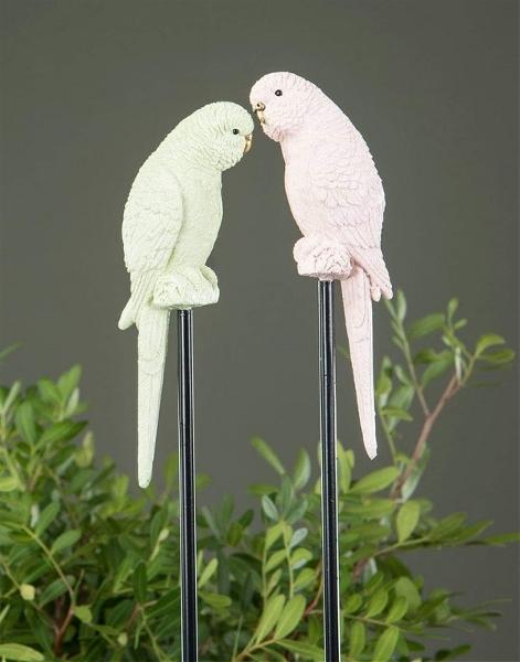 Undulat Stick Stor - Rosa/Grön