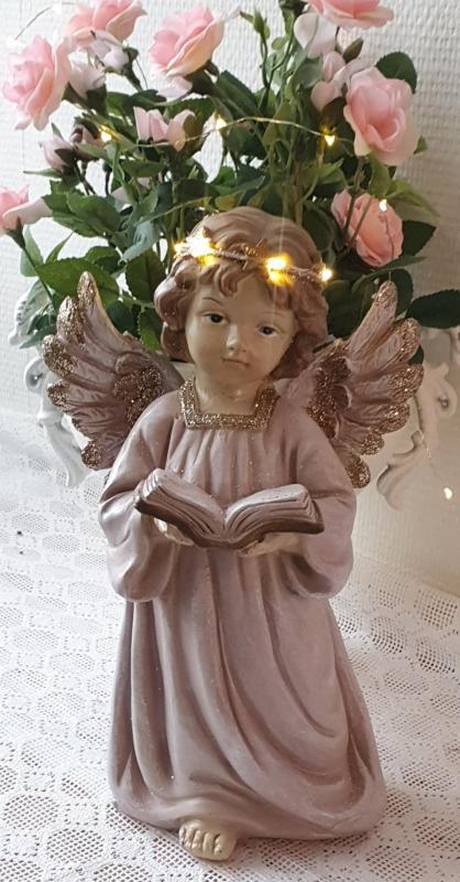 Vacker Ängel Håller Bok LED