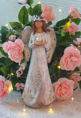 Vacker Ängel Med Duva