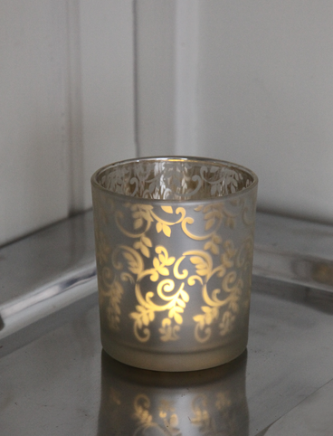 Ljuslykta LED - Silver