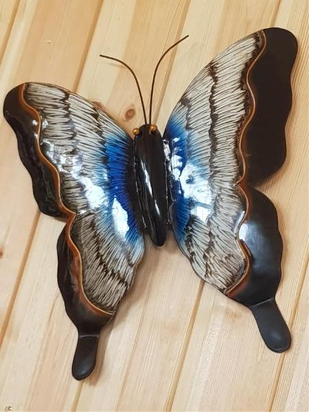 Väggfjäril Blå/Grå