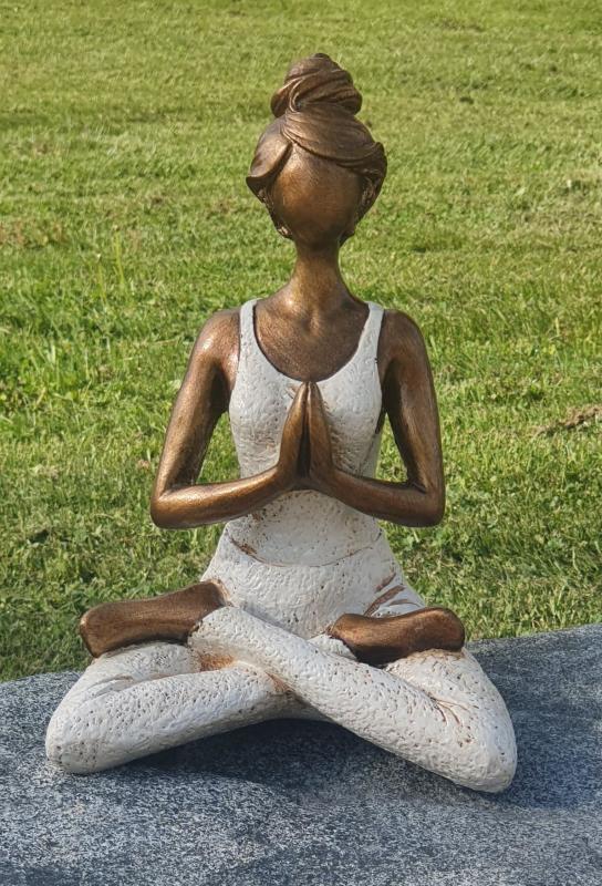 Yoga kvinna - Cremevit